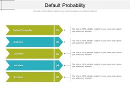 Default Probability Ppt Powerpoint Presentation Infographic Template Display Cpb