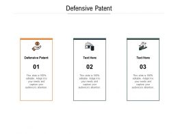Defensive Patent Ppt Powerpoint Presentation Summary Introduction Cpb