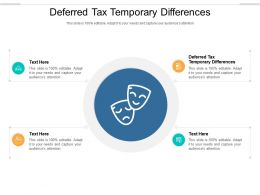 Deferred Tax Temporary Differences Ppt Powerpoint Presentation Infographics Model Cpb