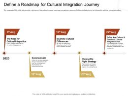 Define A Roadmap For Cultural Integration Journey Choose The Ppt Powerpoint Presentation Picture
