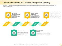 Define A Roadmap For Cultural Integration Journey Cultural Integration Ppt Layout