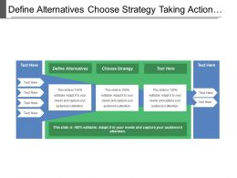 Define Alternatives Choose Strategy Taking Action Checking Progress