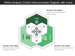 Define Analyze Control Interconnected Diagram With Icons