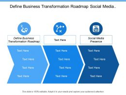 Define Business Transformation Roadmap Social Media Presence Social Analytics