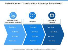 Define Business Transformation Roadmap Social Media Presence Social Analytics