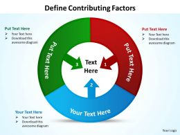 define contributing factors powerpoint diagrams presentation slides graphics 0912