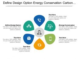 Define Design Option Energy Conservation Carbon Reduction Strategies