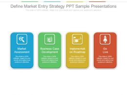 Define Market Entry Strategy Ppt Sample Presentations