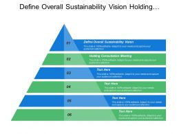 Define Overall Sustainability Vision Holding Consultation Meetings