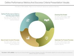 Define Performance Metrics And Success Criteria Presentation Visuals