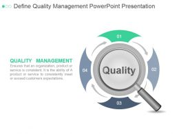Define Quality Management Powerpoint Presentation