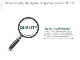 Define Quality Management System Sample Of Ppt