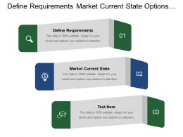 Define Requirements Market Current State Options Combinations Comparative Analysis