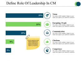 Define Role Of Leadership In Cm Ppt Design