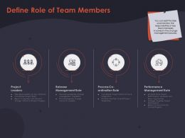 Define Role Of Team Members Coordination Role Ppt Powerpoint Presentation File Example