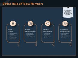 Define Role Of Team Members Leaders M1270 Ppt Powerpoint Presentation Slides Gallery