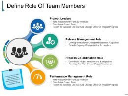 Define Role Of Team Members Ppt Background Graphics