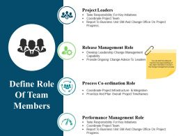 Define Role Of Team Members Ppt Design Templates
