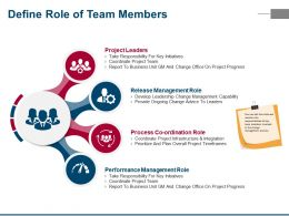 Define Role Of Team Members Ppt Images Gallery