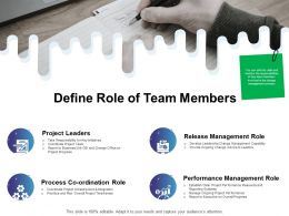 Define Role Of Team Members Ppt Powerpoint Presentation File Maker