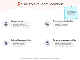 Define Role Of Team Members Ppt Powerpoint Presentation Gallery Display