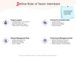 Define Role Of Team Members Ppt Powerpoint Presentation Gallery Display