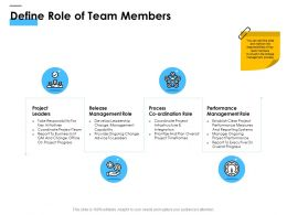 Define Role Of Team Members Ppt Powerpoint Presentation Ideas Design Inspiration