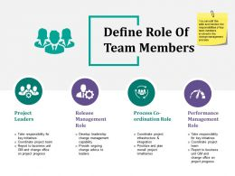 Define Role Of Team Members Ppt Slide Themes