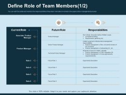 Define Role Of Team Members Responsibilities Ppt Gallery