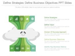 Define Strategies Define Business Objectives Ppt Slides