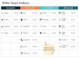 Define Target Audience Geographic Ppt Powerpoint Presentation Pictures Layouts