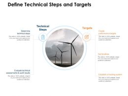 Define Technical Steps And Targets Ppt Powerpoint Presentation Pictures
