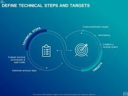 Define Technical Steps And Targets Ppt Powerpoint Presentation Slide