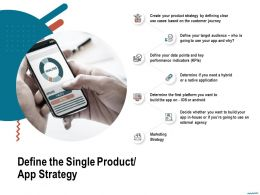 Define The Single Product App Strategy Or Android Ppt Powerpoint Presentation Infographic Template