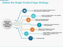 Define The Single Product App Strategy Ppt Powerpoint Presentation Icon Graphics Template