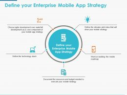 Define Your Enterprise Mobile App Strategy Ppt Powerpoint Presentation Icon Graphics Pictures