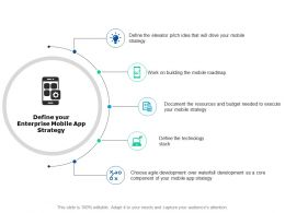 Define Your Enterprise Mobile App Strategy Technology Ppt Powerpoint Presentation Portfolio Icons