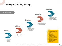 Define Your Testing Strategy Remote Access Ppt Powerpoint Presentation Summary Structure
