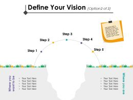 Define Your Vision Change Management Introduction Ppt Icon Guidelines