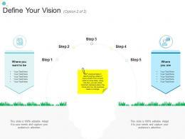 Define Your Vision Option 2 Of 2 Step Organizational Change Strategic Plan Ppt Guidelines