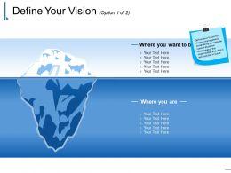 Define Your Vision Ppt Background Images