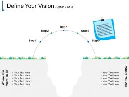 Define Your Vision Ppt Background Template