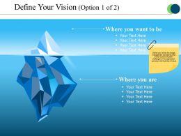 Define Your Vision Ppt Diagrams