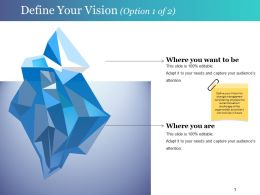Define Your Vision Ppt Slide Examples