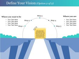 Define Your Vision Presentation Graphics