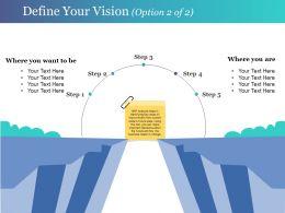 Define Your Vision Presentation Graphics