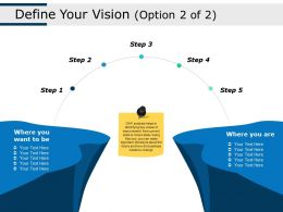 Define Your Vision Step Ppt Show Background Images