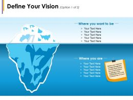 Define Your Vision Where You Want To Be Where You Are