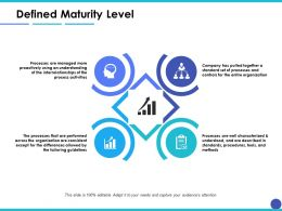 Defined Maturity Level Ppt Inspiration Example Introduction