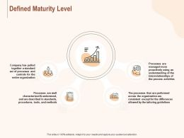 Defined Maturity Level Ppt Powerpoint Presentation Outline Examples